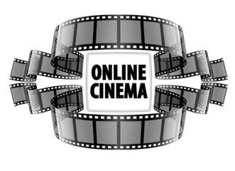 Online cinema video film. Eps10 vector illustration. Isolated