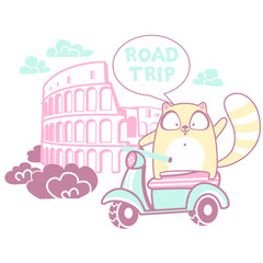 Road trip with a cat