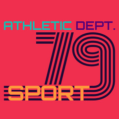 athletic dept. typography, t-shirt graphics. vector illustration