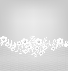 lace border on gray background