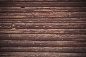 Dark Log Wall Background