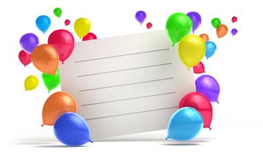 Einladung mit Luftballons 2