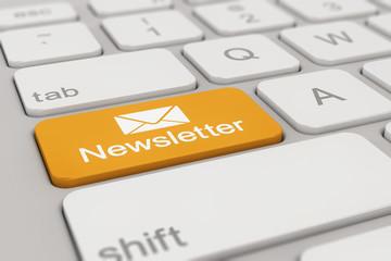 keyboard - newsletter - yellow