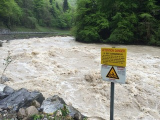flooding in french Alps
