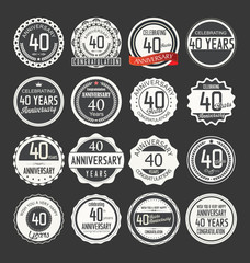 anniversary retro badge collection