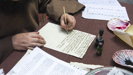 ancient letter written by hand