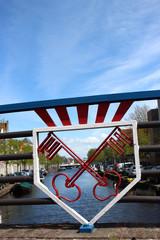 Wapen van Leiden op brug, Nederland
