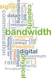 bandwidth wordcloud concept illustration poster