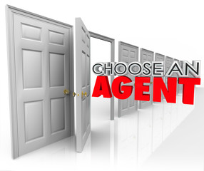 Choose An Agent 3d Words Open Door Picking Real Estate Talent Re