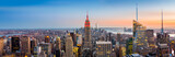 New York skyline panorama at sunset
