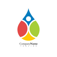 water drop vector logo icon