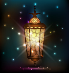 Ramadan background with arabic lantern
