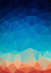 Spectrum geometric background made of triangles