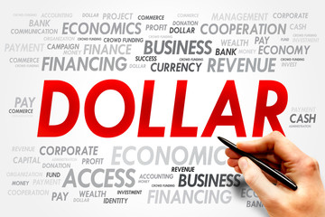 DOLLAR word cloud, business concept