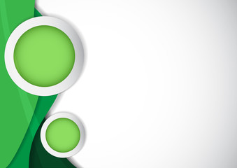 Vector : Circle for topic and green background
