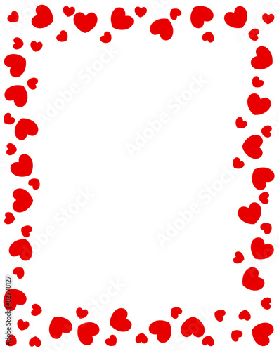 Naklejka Red hearts border