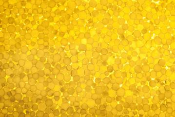 Polystyrene foam texture against sunlight