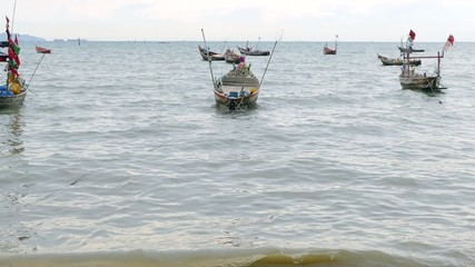 Fisherman Boats, Bang Saen Beach