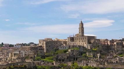 Panoramic view of Matera,basilicata, Italy. UNESCO