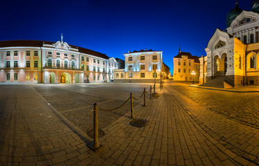 Lossi Plats Square and Alexander Nevski Cathedral in the Evening