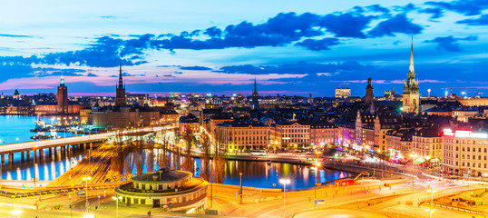 Evening panorama of Stockholm, Sweden