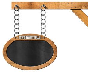 Food Menu - Blackboard with Chain