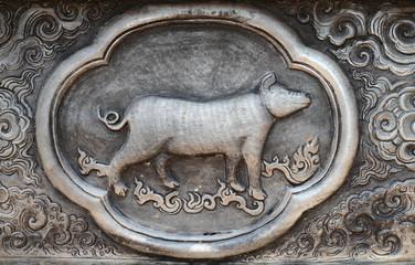 Silver plate Zodiac
