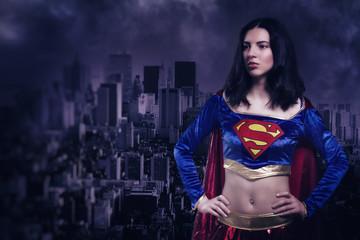 Supergirl in a costume