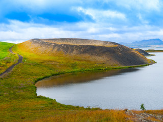 Pseudocrater at Myvatn Lake