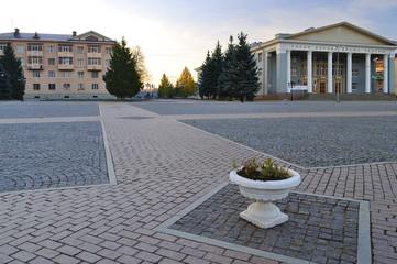 Lenin Square in Almetyevsk Tatarstan Russia