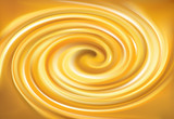 Fototapeta Vector swirling backdrop vivid yellow color