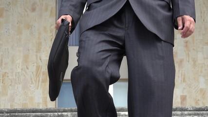 Man Wearing Business Suit