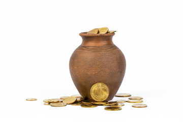 coins in a pot