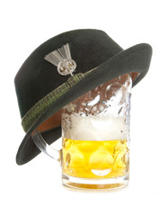 beer and tryolean hat