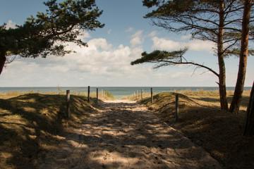 Strandzugang bei Göhren