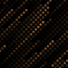 Texture with gold circles on dark background