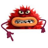 cartoon hairy monster 3d