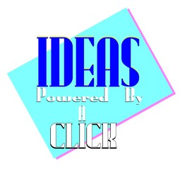 ideas concept background just a click away