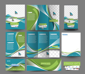 Interior Designer Business Stationery Set Template.