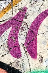 texture di un murales con crepe