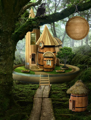fairy house ( barrel)