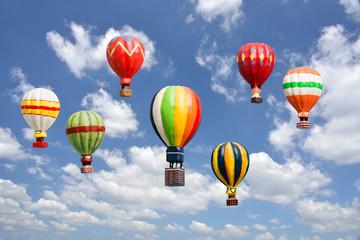 カラフルな玩具の熱気球