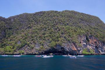 Beautiful sea at phi phi islands, thailand.