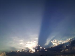 cloudy sky flare