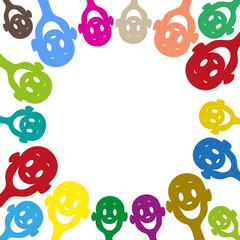 Visages humeur sourires