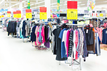 Sales of clothing in the store