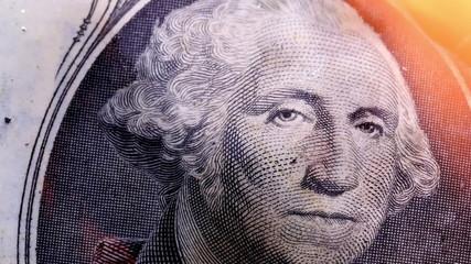 1dollar bill USA money burning in flames.