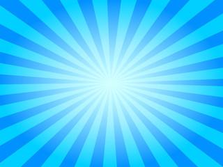 Summer Sky Vector Sunburst Background