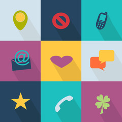Business icon - style web 2.0 colorful