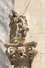 Capitello nel centro storico leccese